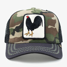New Gold Star Camo Rooster Mens Trucker Hat - One Size