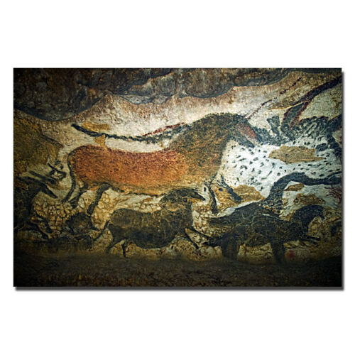 The Cave Art Paintings of the Lascaux Cave Silk Poster 12x18 24x36 inches