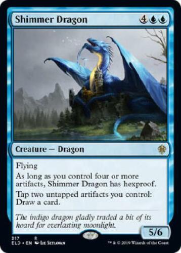 3x Shimmer Dragon 317//269 Near Mint MTG Throne of Eldraine