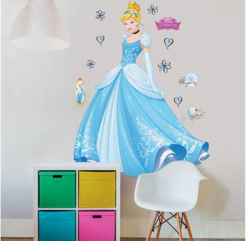 1,22m Lichtschalter Türsticker Wandsticker Disney Princess Cinderella XXL ca