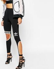Adidas Originals Rita Ora W Black Cut Leggings Size UK 18, EU 44, US L New (505)