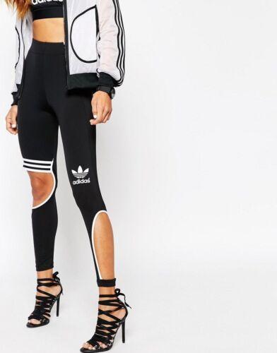 L Rita 44 nero 18 Us 505 Originals Uk W New con Adidas taglio Leggings Ora di Eu C6wHgRq