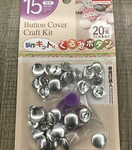 Fabric-Covered-Shank-Button-Kit-20pcs-15mm-5-8-034-Buttons-Pusher-Tool-DIY-Crafts