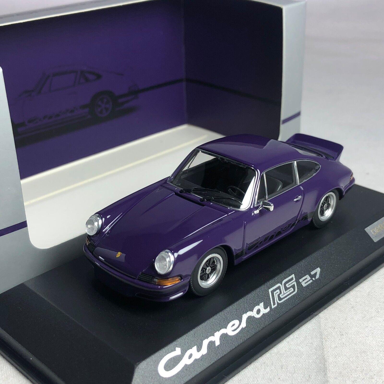 1 43 Minichamps Porsche Carrera RS 2.7 Purple Dealer Version WAP0201430J