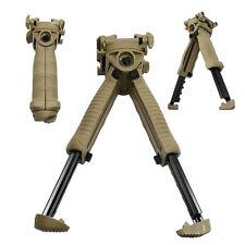 Tactical 40 Degree Swivel Foldable Foregrip Rifle Bipod 20mm Rail Mount - QR Tan