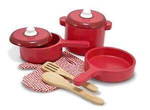 Melissa & Doug de Luxe Bois Cuisine Accessoire Set - Pots & Casseroles (8