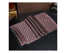 MEN Luxury 100% Silk Scarf Classic Black & Red Art Diamonds Fashion Accessory