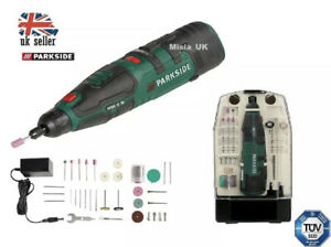 Parkside 12V Li-Ion Cordless Rotary Multi tool Battery & Charger+50 accessories