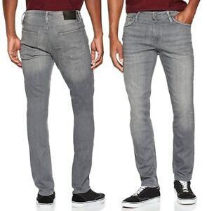 bäst köpa köper nu Jack & Jones Mens Slim Fit Jeans Glenn Felix Stretch Grey Denim ...