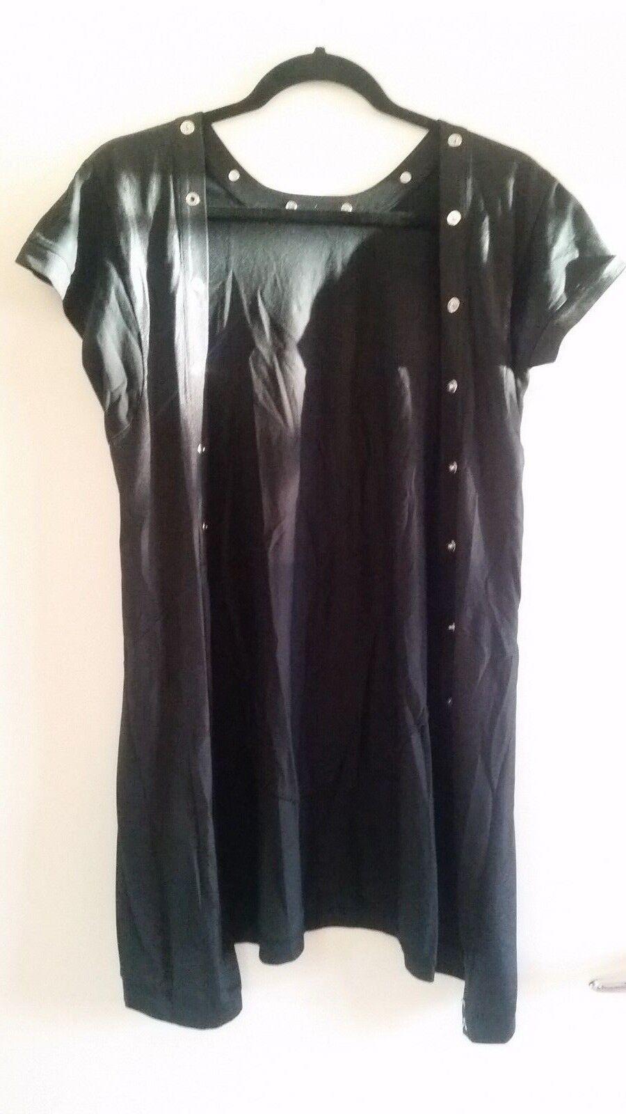 BOSS Orange HUGO BOSS Damen Designer Blause LongBlause Kleid Hemd 34 XS S Schwarz