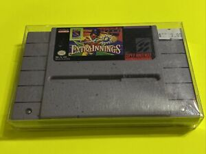 WORKING-SUPER-NINTENDO-SNES-RARE-GAME-CARTRIDGE-EXTRA-INNINGS-Baseball