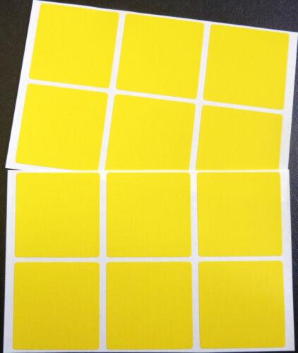 "economía Pack Mate Amarillo papel pegatinas Square 50 mm 2 /"" 12 Etiquetas blc513"