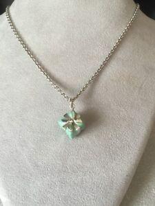 Tiffany Co 925 Sterling Enamel Tiffany Blue Box Pendant Necklace