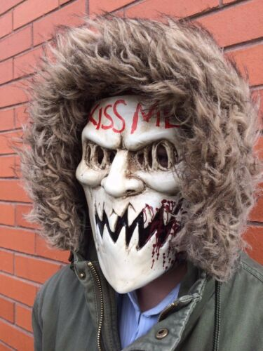 The Purge 3 Mask Kiss Me Halloween Fancy Dress Horror Costume Election Year NEW
