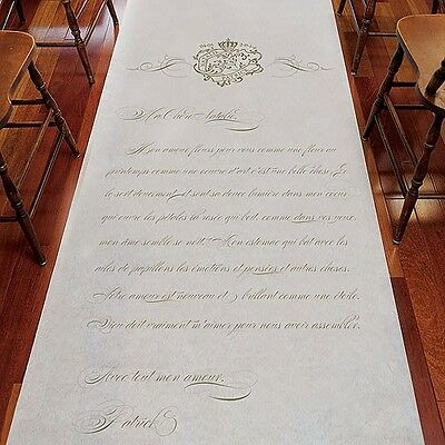 Parisian Love Letter Personalized Aisle Runner Wedding Ceremony Decoration Ebay