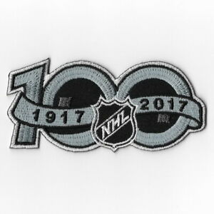 NHL-100th-Anniversary-Iron-on-Patches-Emblem-Patch-2017-National-Hockey-League