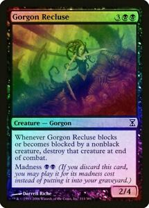 Gorgon Recluse FOIL Time Spiral NM-M Black Common MAGIC GATHERING CARD ABUGames