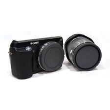 Hi-Q Rear Lens Cap + Camera Front Body Cover for Sony E-Mount NEX-3 NEX-5 black
