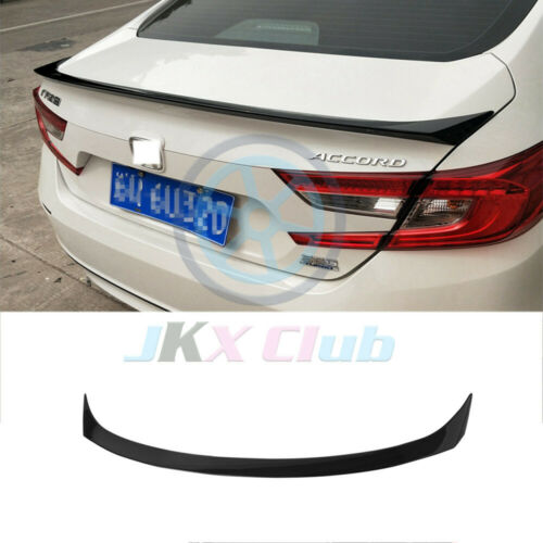 For Honda Accord 18-19 Glossy Black ABS Rear Tail Trunk Spoiler Wing Lip Trim/_k
