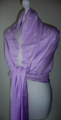 Lavender Lilac Wrap Shawl Beaded Tassels Oversized Scarf Pashmina Evening