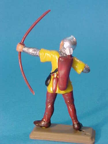 YELLOW TUNICS DSG ARGENTINA MEDIEVAL CRUSADERS KNIGHTS * PLASTIC TOY SOLDIER