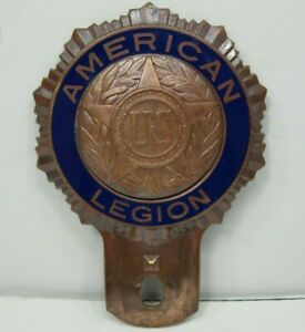 American-Legion-License-Plate-Topper-Patent-Date-Dec-039-19-Made-by-Fox-Company-USA
