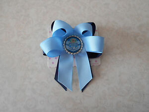 "STATE OF ORIGIN QLD Cheer Hair Bow Clip 4"" 4 Inch Jojo Queensland Maroons Rugby"