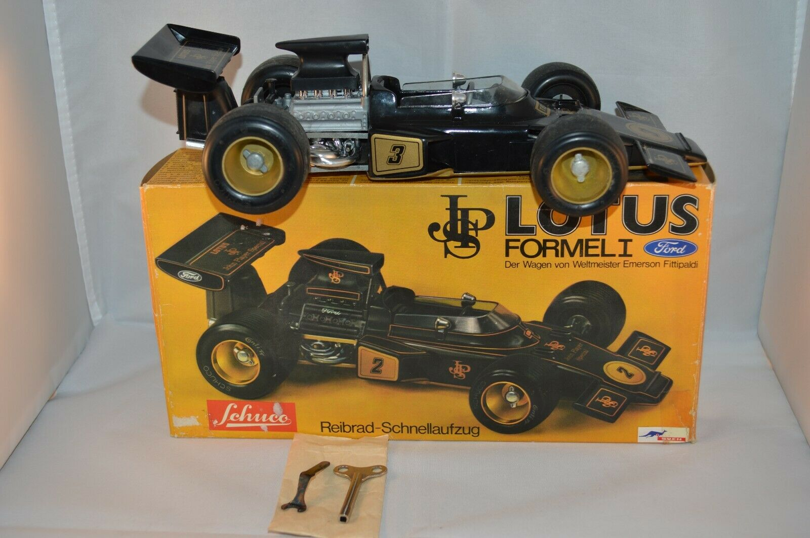 Schuco 356 177 Lotus Formel 1 very near mint in box SUPERB decal 3