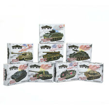 4D 8pcs Assemble Tank Heavy Weapons Armor 1/72 Plastic Model US Kit Battle Toy