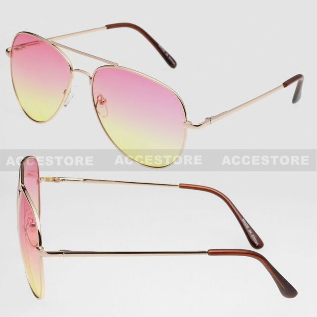 64ebd710ef All Unisex Gradient Color Lens Aviator Shades Sunglasses Women Men ...