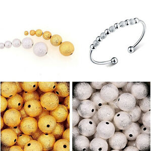 100PCS-Silver-Gold-Plated-Round-Spacer-Loose-Beads-Jewelry-Findings-3-4-6-8-10mm