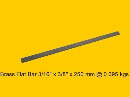 """Steam-Mill-Lathe-Model-Weld-OG Brass Flat Bar 3//16/"""" x 3//8/"""" x 250 mm"""