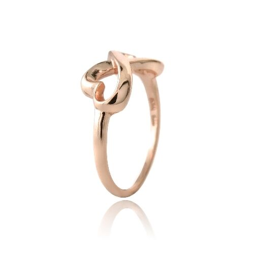 Rose Gold Tone over 925 Silver Polished Infinity Heart Ring