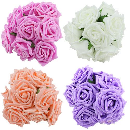10PCS New Bridal One Bouquet Rose Flower Party Wedding Bridesmaid Decoration