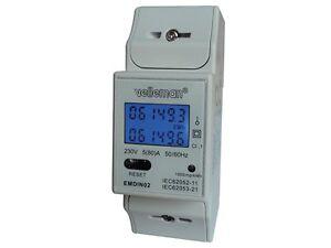 COMPTEUR-ENERGIE-ELECTRIQUE-kWh-MONOPHASE-POUR-MONTAGE-SUR-RAIL-DIN-2-MODULES