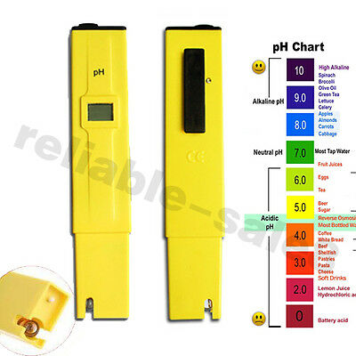 Digital Ph Tester-Pen-Meter Kit Water Aquarium Wine SPA Test Tester London Ship