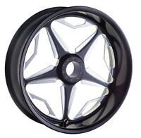 21 X 2.15 Front Wheel Speed Star Black Contrast Cut Rim Harley Usa Made Revtech