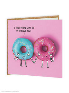 Details About Brainbox Candy Funny Humour Donut Know Cute Quirky Birthday Card Doughnuts