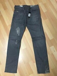 Nuovo-con-etichette-Da-Uomo-DIESEL-BUSTER-Stretch-Denim-0853T-Grigio-Sbiadito-Slim-W30-L32-H6-5-RRP