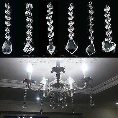 New 1/5/10 Strands Acrylic Crystal Bead Garland Decor Hanging Wedding Decoration