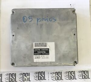 04-05-06-PRIUS-89661-47102-COMPUTER-BRAIN-ENGINE-CONTROL-ECU-ECM-MODULE-K6126