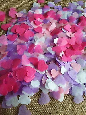 2500 confettis coeur or blanc rose clair et fushia Mariage Baby-shower Fêtes