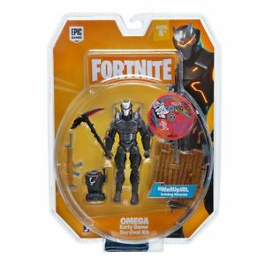 NEW Fortnite 1 Figure Pack Solo Mode: Omega Early Game Survival Kit