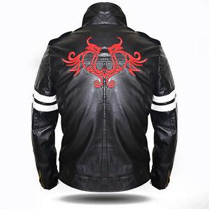 bffdf53fe Details about Prototype Alex Mercer Mens Cosplay Gaming Costume Black Biker  Leather Jacket