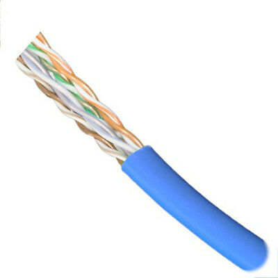 Made in USA FREE SHIPPING 500FT BLUE CAT5E 350MHz Plenum Rated Cable