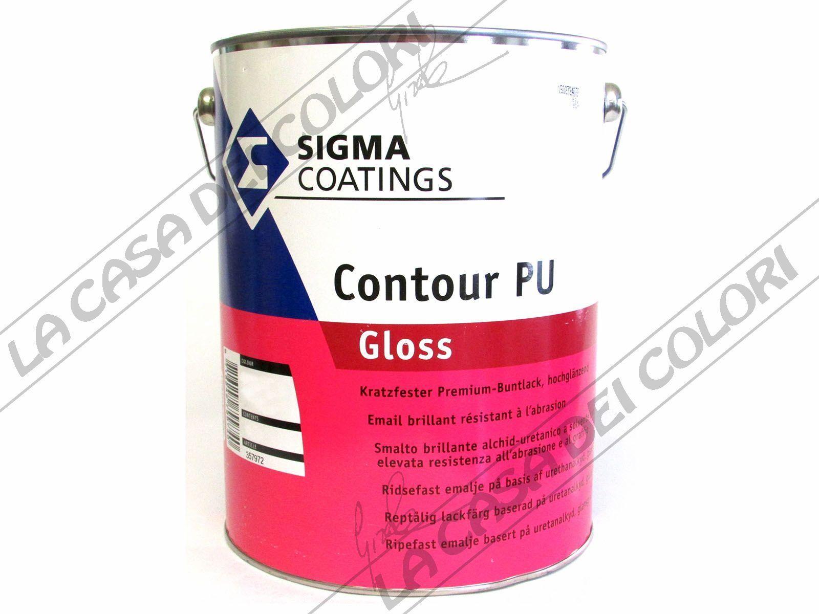 SIGMA COATINGS - CONTOUR PU GLOSS - COATINGS 5 lt - QUALSIASI COLORE -SMALTO ALCHIDICO 801818
