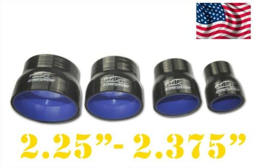 """4 Ply Silicone Straight Reducer Joiner Hose 57mm 2 3//8/"""" Black 60mm 2 1//4/"""""""