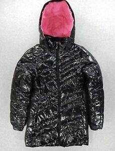 aadea742c07f Spyder TimeLess Long Synthetic Down Jacket (Girls Large) Black Pink ...