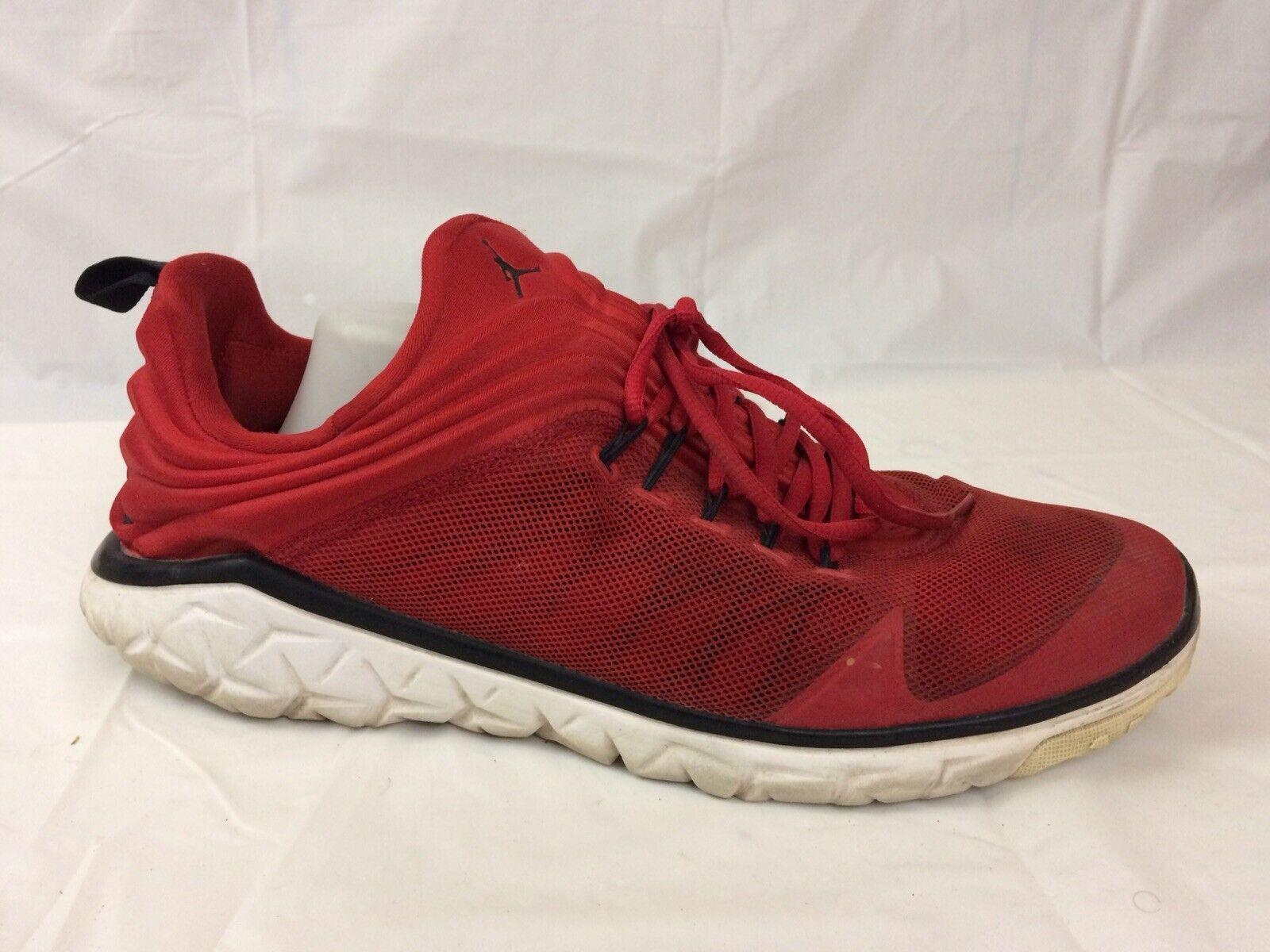 Jordan Flight Flex Trainer Mens 14 Med Gym Sneaker shoes Red Black 654268-601