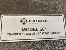 Greenlee Model 501 Tracker Ii Cable Locator Underground Wire